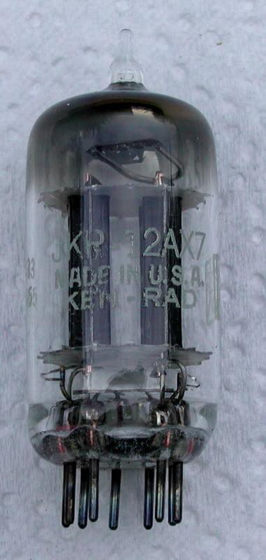 Ken-Rad 12ax7 Black Plates