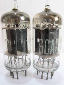RCA 12ax7 Carbon Black Plates