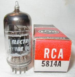 RCA 5814 Black Plates 3 Mica