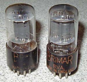 Brimar 6SN7GT Gray Round Plates