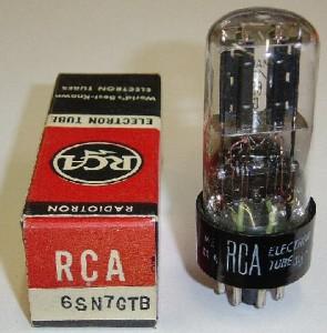 RCA 6SN7GTB Black T-Plates Canada