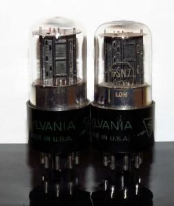 Sylvania 6SN7GT black flat plates