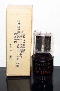 Raytheon CRP 6SN7GT D-getter Black Plates