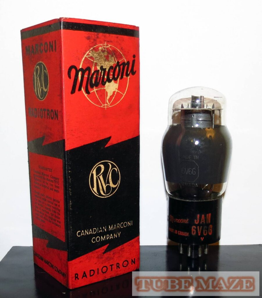 Marconi JAN 6V6G Smoked Glass