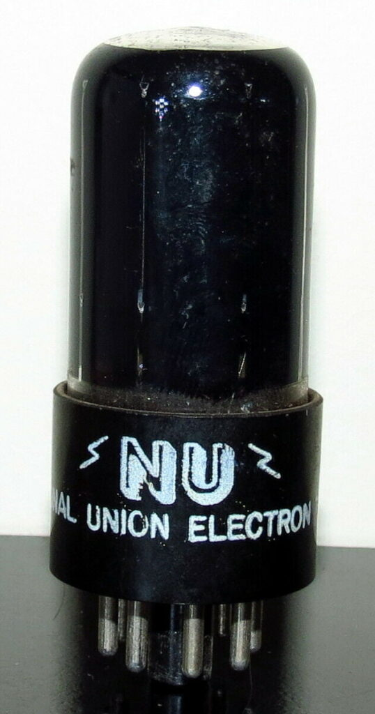 National Union 6SL7-ECC35 Black Glass