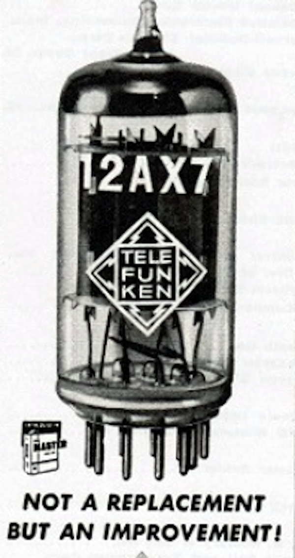 A brief history of 12ax7 tubes
